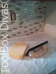 Acrylpro Ceramic Tile Adhesive Drying Time by How To Install A Kitchen Tile Backsplash The Easy Way Toolbox Divas