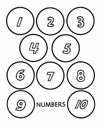 Free Coloring Pages Numbers 1 20 With