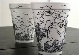 Amazing Sharpie Art on Styrofoam Cups