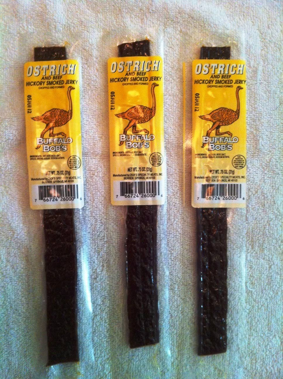 Buffalo Bob's Wild Game Jerky - Hickory Smoked Ostrich, Single Pack