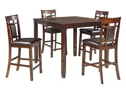 Bennox Contemporary 5-Piece Dining Room Counter Table Set By Signature  Design By Ashley At Furniture And ApplianceMart