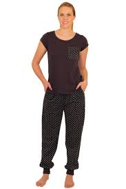 apparelny stylish knit pajama set with stylish tee shirt and