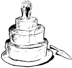 0511 0706 1913 0439 Vintage Clip Art of Wedding Cake clipart image