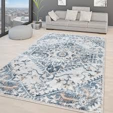wohnzimmer teppich orientalisches vintage design modern