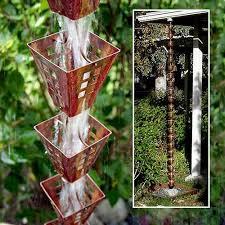 Decorative Outdoor Rain Gauges by 30 Amazing Downspout Ideas Splash Guards Charming Rain Chains