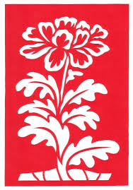 Cut Paper Design Flower Border Stencil