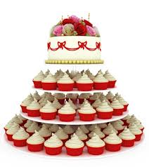 Tiered Wedding Cupcakes And Cake