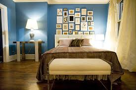 Master Bedroom With Blue Walls