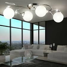 wohnzimmer le deckenbeleuchtung chrom glas deckenleuchte