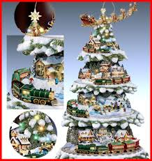 Thomas Kinkade Christmas Tree Village by Wonderland Express Christmas Tree Home Design Inspirations