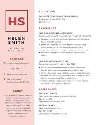 Simple Pink College Resume