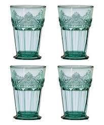 Global Amici Teal Rococo Highball Glass