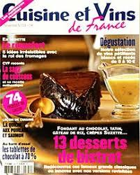 cuisine revue abonnement cuisine et vins de magazine journal et revue