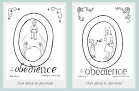 Bible Coloring Pages On Obedience Clipart