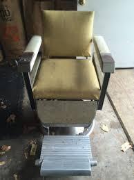 Emil J Paidar Barber Chair Headrest by 1960 Emil J Paidar Barber Chair