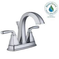 Home Depot Bathroom Faucets Chrome by Pegasus Mason 4 In Centerset 2 Handle High Arc Bathroom Faucet In
