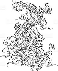 Chinese Dragon In Black Color 2012 Is The Year Of