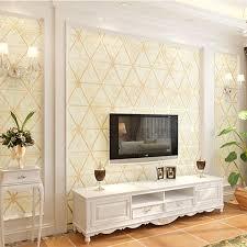 100 Modern Luxury Bedroom US 4889 17 OFF Luxury Beige Background Wallpaper 3D Thick Suede Non Woven Wallpaper Roll Living Room Bedroom TV Wall Decorationin