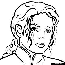 Michael Jackson Coloring Page