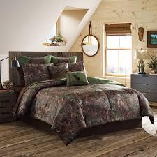 King Bed Comforters by True Timber Mixed Pine Bedding Comforter Set Green Walmart Com