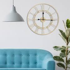 60cm metall wanduhr runde zahlen große wanduhr vintage industrie design wohnzimmer hause dekoration zubehör