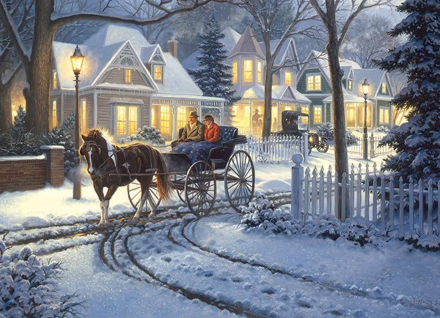 Cobble Hill Horse-Drawn Buggy 1000 Piece Jigsaw Puzzle