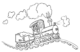 Train Coloring Pages For Free Download At Toddlers