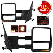 pair for 2007 2014 ford f150 power heated tow mirrors turn signal