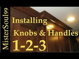 Proper Kitchen Cabinet Knob Placement by How To Install Knobs And Handles On Cabinets Youtube