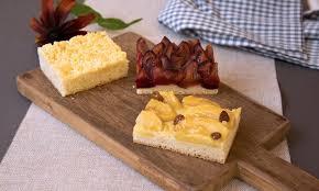 apfel streusel oder pflaumenkuchen