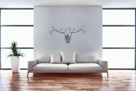 wohnling deko hirschgeweih aluminium wand dekoration silber