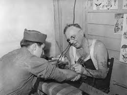 Young Soldier Gets His First Tattoo Brisbane Australia 1943