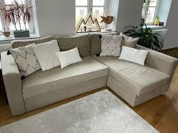 ikea manstad sofa schlafsofa beige