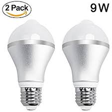 motion sensor led light bulb 5w 450lm e26 110v automatic