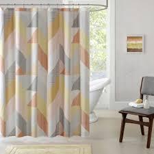 Modern Orange Shower Curtains
