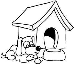 Farm Colouring Pages For Kids Dog House Coloring