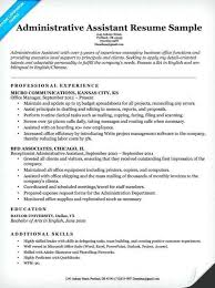 Administrative Assistant Resume Skills Luxury For Executive Fresh Template