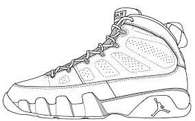 Color Jordan Shoes Coloring