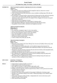 Download Cib Investment Banking Resume Sample As Image File