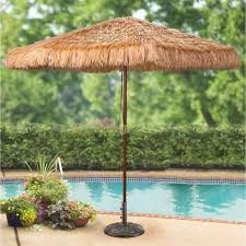 Sunbrella Patio Umbrellas Amazon by Amazon Com Castlecreek 9 Foot Thatched Tiki Umbrella Patio