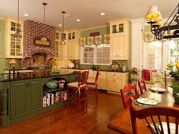 Rustic And Contemporary Awesome Country Kitchen