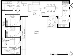 résultat de recherche d images pour plan maison en u 3 chambres