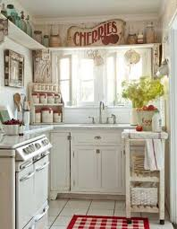 Vintage Kitchen Decor 21 Homey Idea White Cabinets And Cintage Accessories