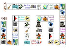 Halloween Brain Teasers Worksheets by 8 Free Esl Halloween Board Game Worksheets