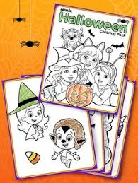 Printable Halloween Coloring Book With Nick Jr Friends