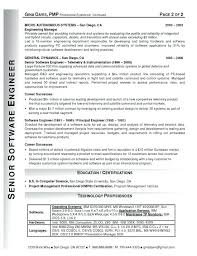 Sample Resume For Software Engineer After Curriculum Vitae
