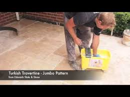 how to remove grout residue on travertine pavers pattern