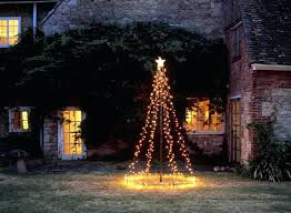 Outside Christmas Tree Outdoor Using String Lights Shop