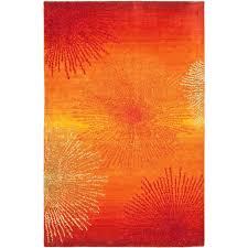 Safavieh Soho Rust Multi Wool 5 ft x 8 ft Area Rug SOH712R 5