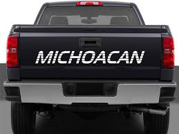 Michoacan Mexico Truck Decal Sticker Tailgate For Chevy 2016 2018 Toyota Tacoma Tailgate Letter Insert Gloss Series Ford F150 Center Stripe 15 Center Hood Racing Stripes Decals Stamped Sticker Reaper Tailgate Blackout Vinyl Graphic Decal Complete Set A 3rdg Jupiter On Earth Rode Precut Emblem Custom Raptor Mud Splash Wrap Car City Truck Graphics Wraps October 2012 Keith Brick Design Metal Mulisha Skull Circle Window X22 Speedway Blackout
